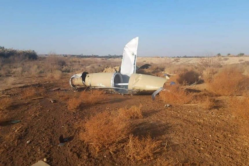 Parts of missiles lie in a rural area near the town of Al-Baghdadi after Iran's Islamic Revolutionary Guard Corps targeted Ain al-Asad airbase in Iraq.
