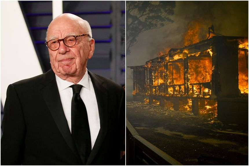 Rupert Murdoch's The Australian newspaper has repeatedly argued that this year's fires are no worse than those of the past.