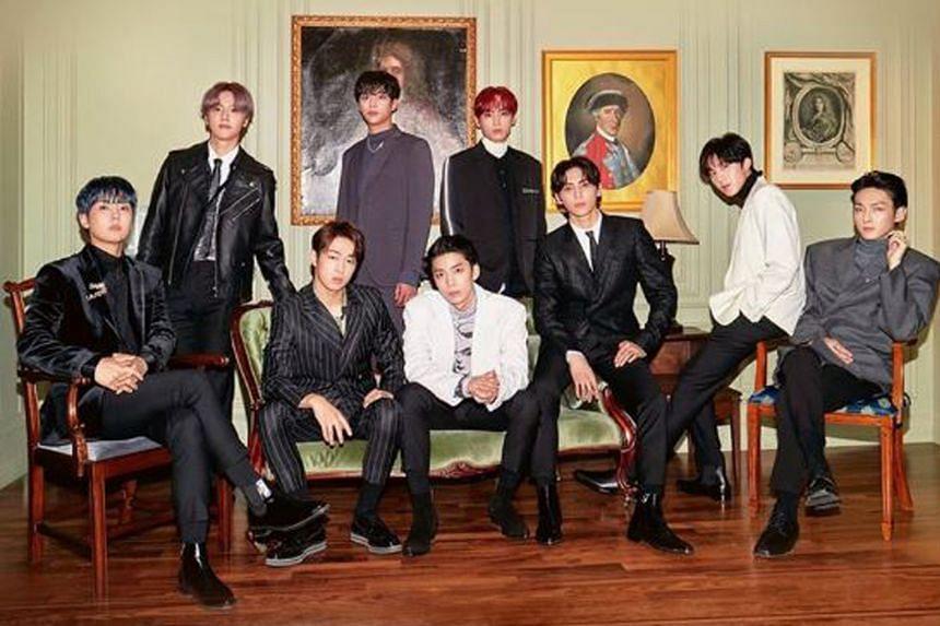 K-pop boyband SF9's (above).