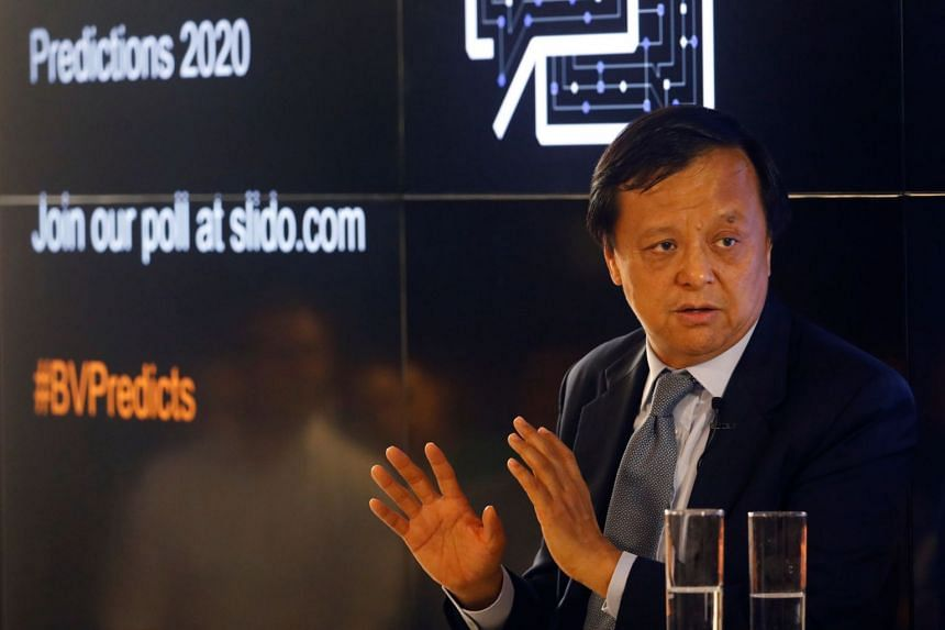Hong Kong Exchanges and Clearing CEO Charles Li speaking at a Reuters Breakingviews event on Jan 9, 2020.