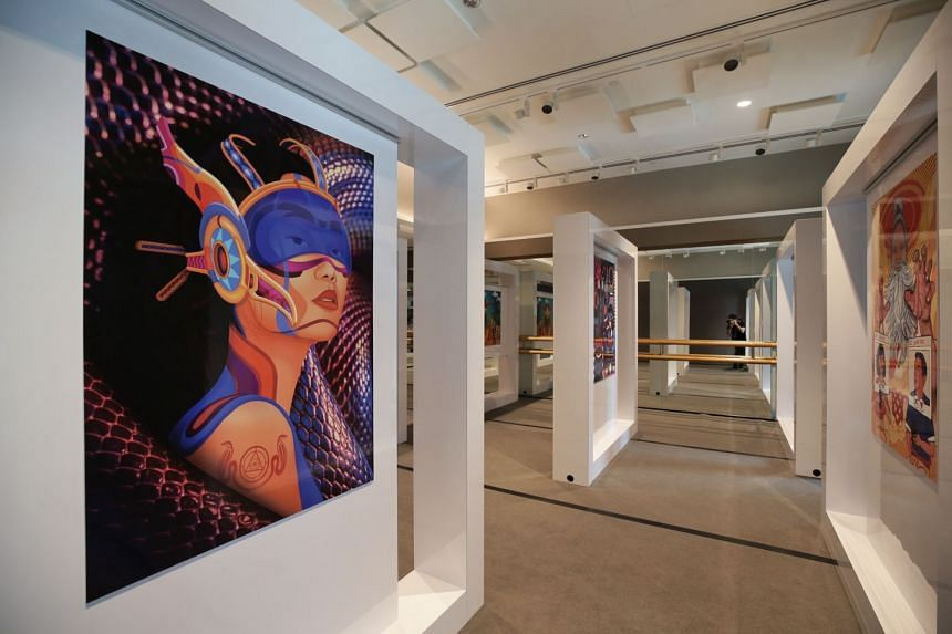 The urban art exhibition at Singapore Chinese Cultural Centre on 9 Jan 2020.