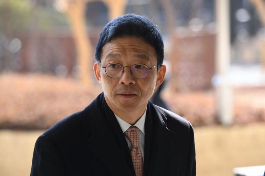 In a file photo taken on Jan 23, 2019, former senior South Korean prosecutor Ahn Tae-geun arrives at the Seoul Central District Court to attend his trial.