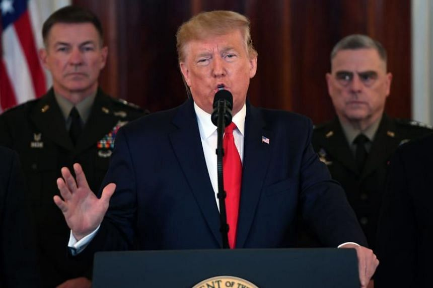 President Donald Trump said the United States would impose additional sanctions on Iran.