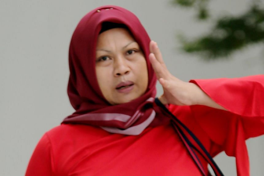 Eis Atikah (above) repeatedly rapped the elderly woman's head with her fist and pinched her arms in their shared bedroom.