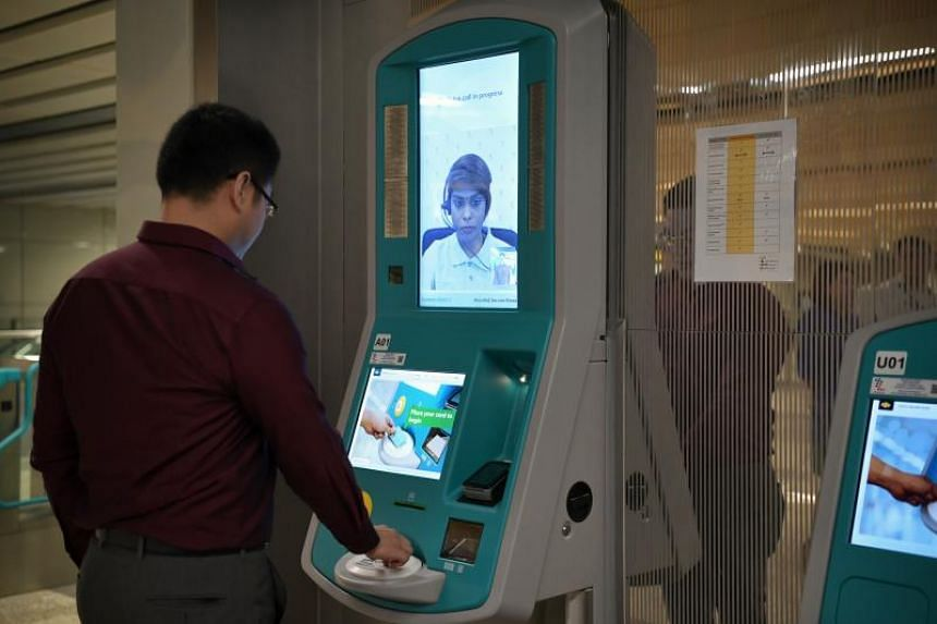 Stations on the Thomson-East Coast Line will have new ticket machines equipped with video capabilities so that officers can attend to any issues that arise.