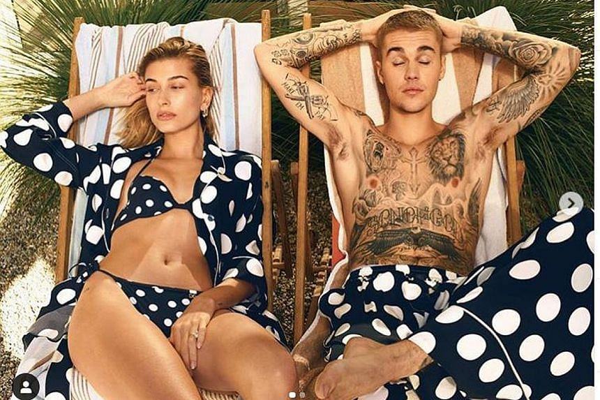 Singer Justin Bieber (left, with wife Hailey Baldwin) will address his struggle with Lyme disease in a YouTube documentary.
