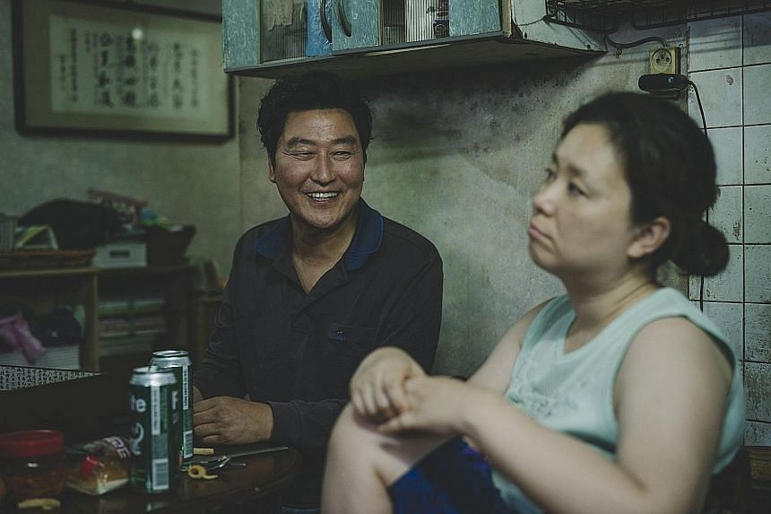 Black comedy Parasite (above) became the first South Korean film to win a Golden Globe when it picked up the Best Foreign Language film award