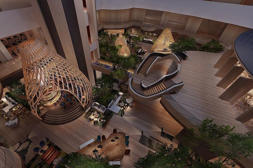 Pan Pacific Hotels Group has rebranded the former Marina Mandarin as the Parkroyal Collection Marina Bay, which will have features that allow for more automation - such as more wood floors instead of carpets, allowing industrial robots to clean the a