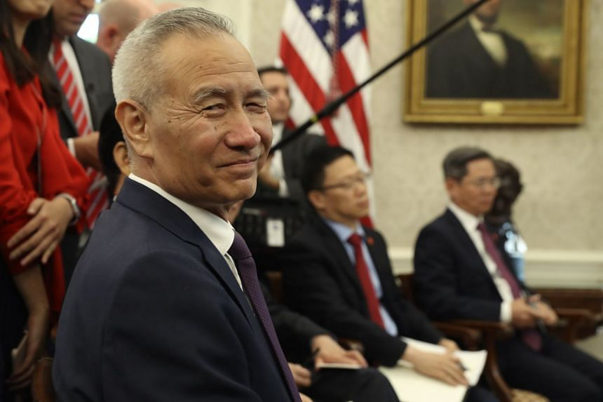 A 2019 photo shows Chinese Vice-Premier Liu He meeting US President Donald Trump at the White House.