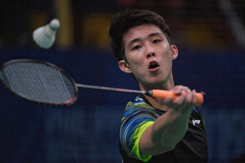 Singapore's Loh Kean Yew in action during the SEA Games Men's Badminton singles finals held in Manila, Philippines, on Dec 9, 2019.