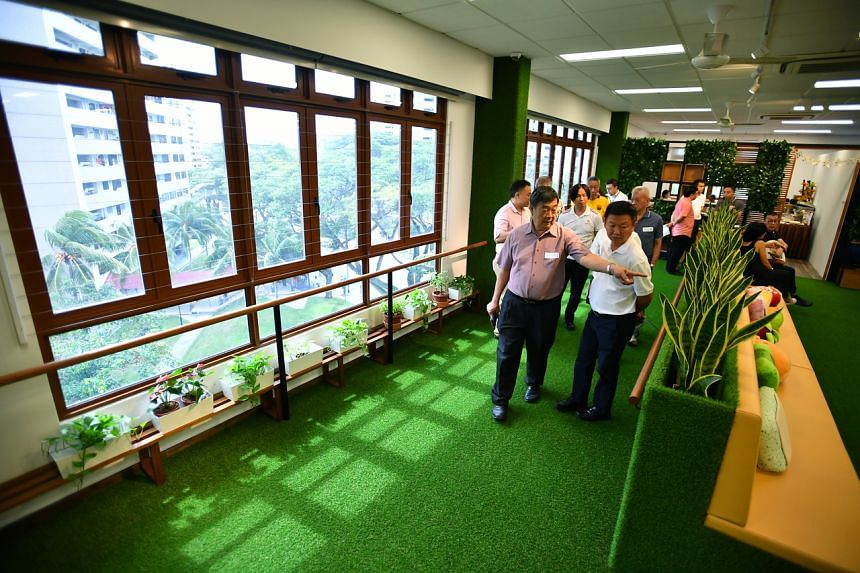 The indoor garden in Home Nursing Foundation's Wellness@Hougang, its first senior care centre.