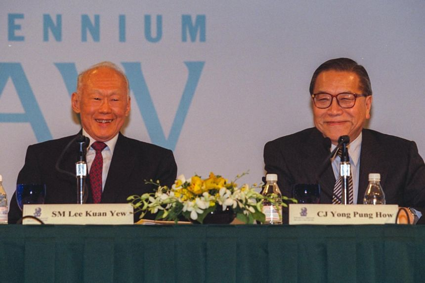Former chief justice Yong Pung How (right) was a close friend of Singapore's late founding prime minister Lee Kuan Yew.