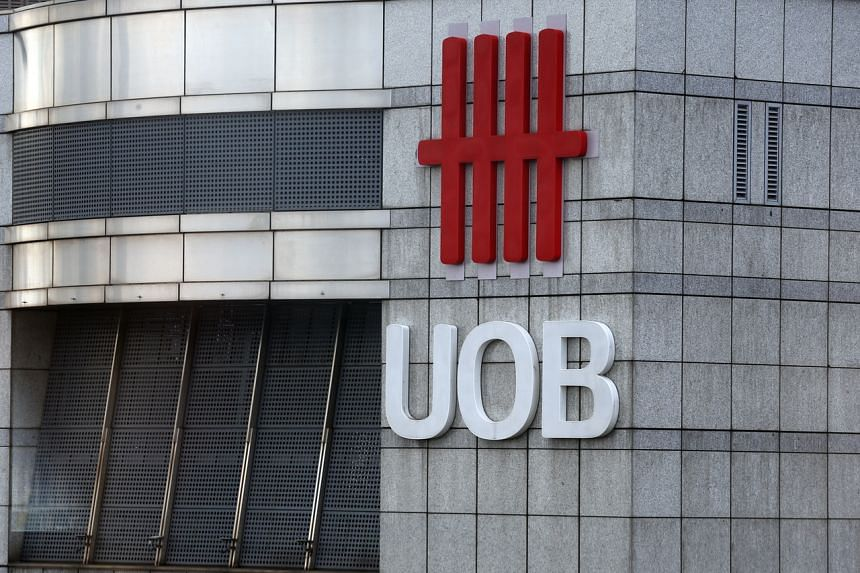 The UOB logo seen at the UOB Plaza, on May 16, 2019.