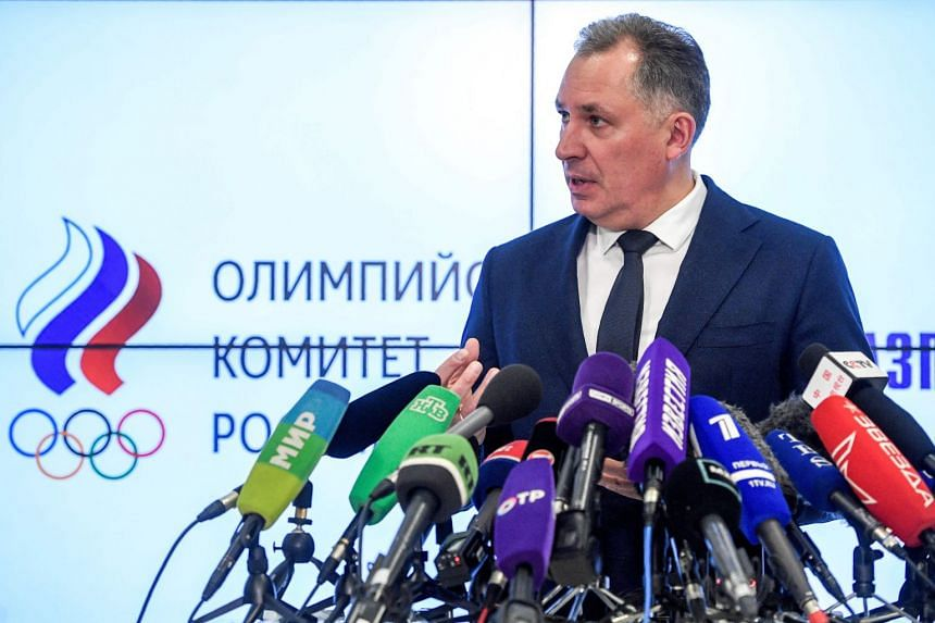 Russian Olympic Committee president Stanislav Pozdnyakov holds a press conference in Moscow on Dec 24, 2019 following meetings with the Russian anti-doping agency to discuss Russia's doping ban from major sport competitions.