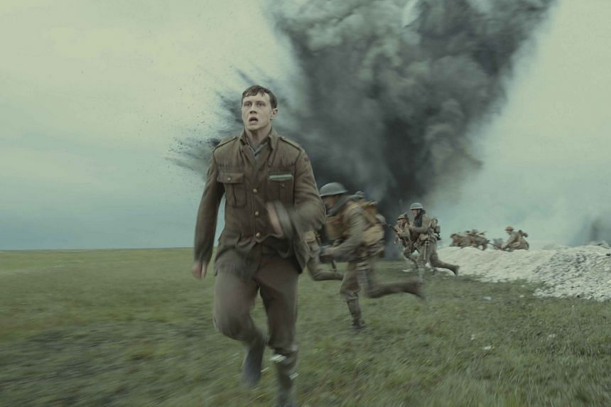 Two lowly soldiers (played by Dean-Charles Chapman and George MacKay, above) are charged with delivering a message from one part of the battleground in France to another.