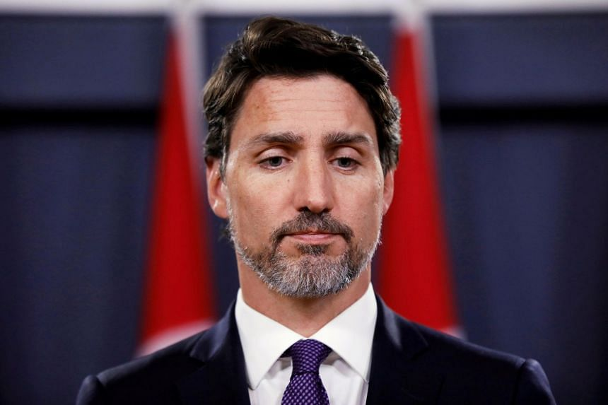 Trudeau attends a news conference in Ottawa, Jan 9, 2020.