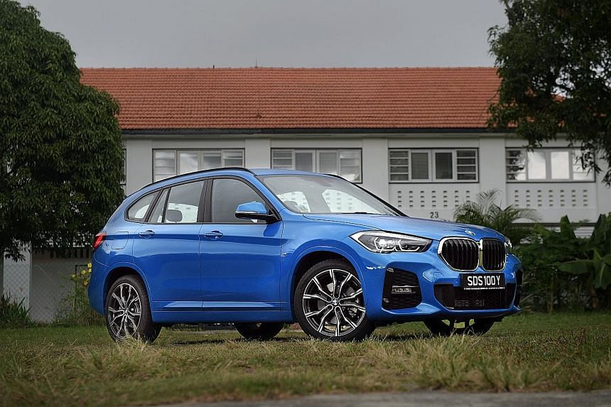The BMW X1 has a hint of boy-racer styling with a restyled front bumper assembly with prominent air vents.