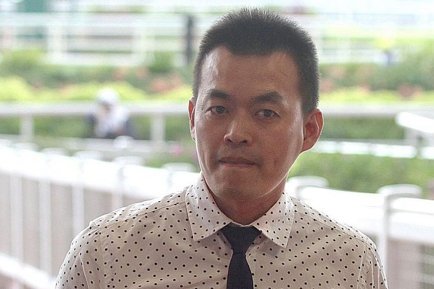 Jockey-turned-trainer Kuah Cheng Tee returned to riding in the trials on Thursday morning.