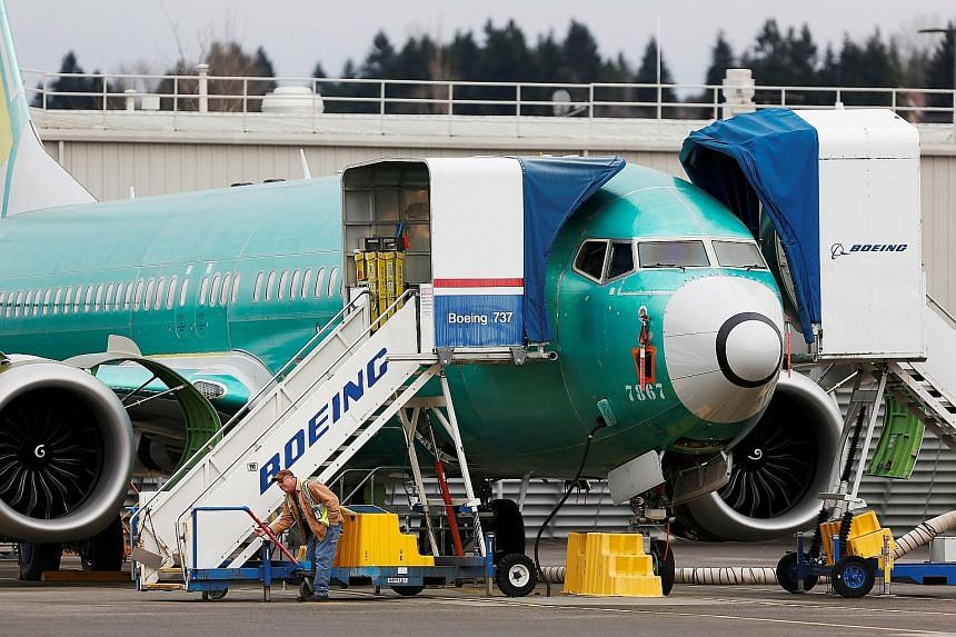 A Boeing 737 Max at the plane-maker's production facility in Renton, Washington. Some of the messages released on Thursday revealed efforts by Boeing to avoid making pilot simulator training - an expensive and time-consuming process - a requirement f