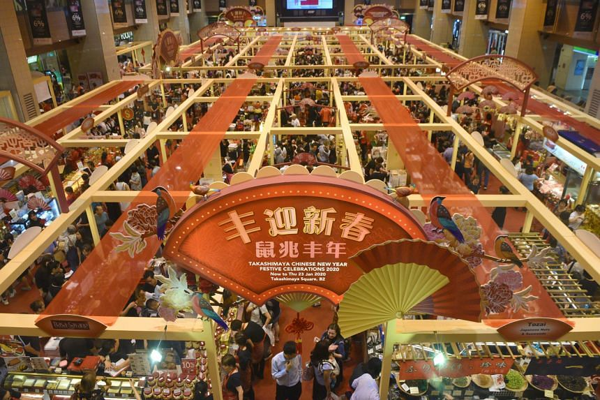 Businesses say their sales at festive fair can account for 50 per cent of total sales of snacks and goodies  during the CNY period.