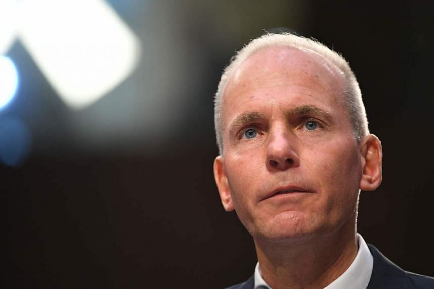 Dennis Muilenburg was fired from the CEO job in December as Boeing failed to contain the fallout from a pair of fatal crashes.