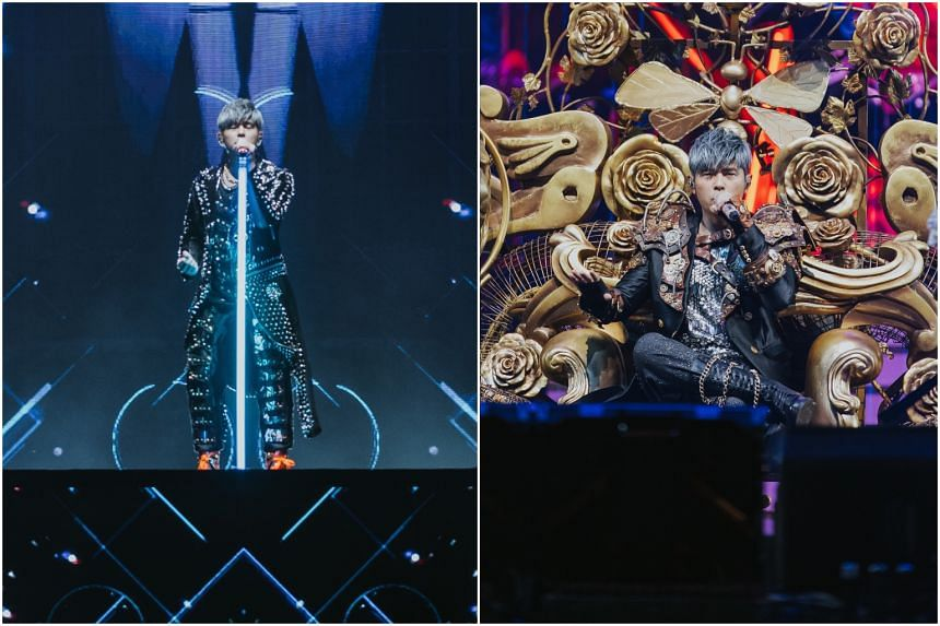 Taiwanese singer-songwriter Jay Chou performing at the National Stadium in Singapore on Jan 10, 2020, as part of his Carnival World Tour.