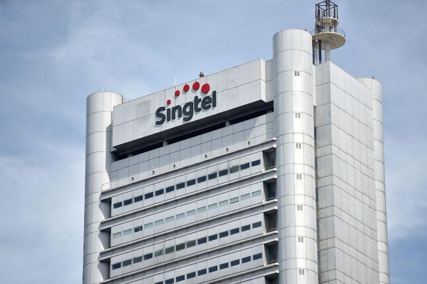 The Singtel headquarters building.