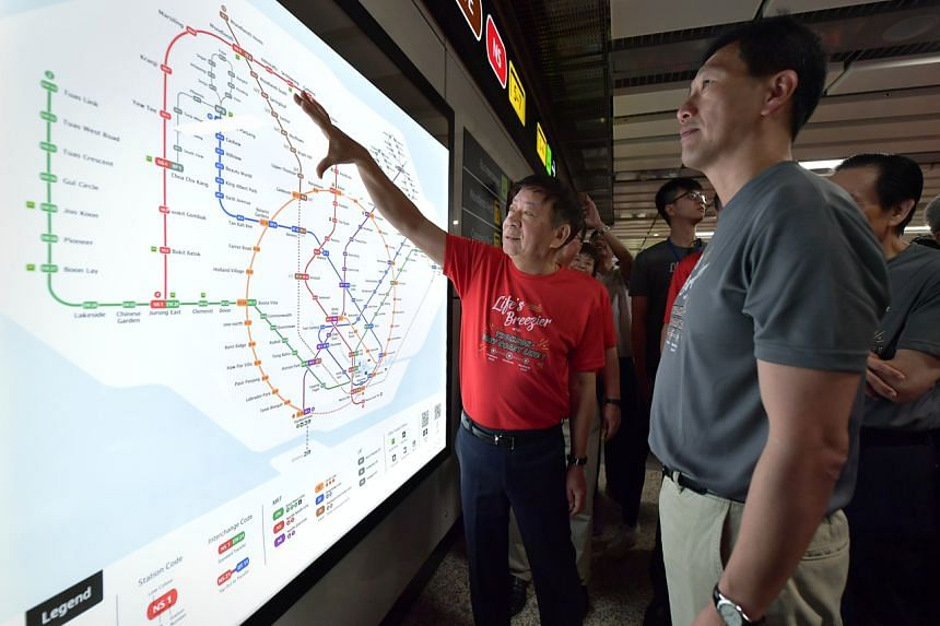 Transport  Minister Khaw Boon Wan and Education Minister and Sembawang GRC MP Ong Ye Kung at the preview of the Thomson-East Coast Line 1 on Jan 11, 2020.