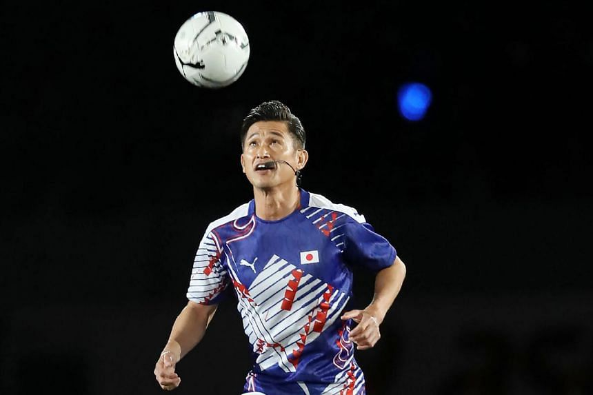 Kazuyoshi Miura played in just three matches last year and did not score any goals but extended his record as the oldest player in the J-League.
