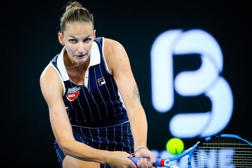 Karolina Pliskova (above) will play Madison Keys in Sunday's final hoping to add to her 2017 and 2019 crowns.