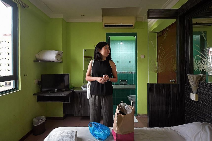 The Sunday Times ran an article (right) about the sleepless night reporter Clara Lock (above) had at the Golden Dragon Hotel last year. Golden Dragon Hotel was leased to Singapore-based hotel management and booking platform RedDoorz, which renovated