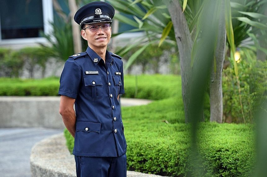 Teacher Tan Chee Wee, a Volunteer Special Constabulary officer, also took part.