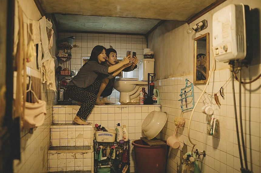 In the Kims' home, the toilet bowl is perched on a flight of stairs to mitigate the low water pressure and accessing the Internet means getting as close as possible to the ceiling in their apartment to steal their upstairs neighbour's Wi-Fi signal. P