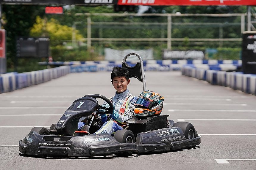 Christian Ho, 13, is aiming to do well at the Karting World Championship in Brazil in October.