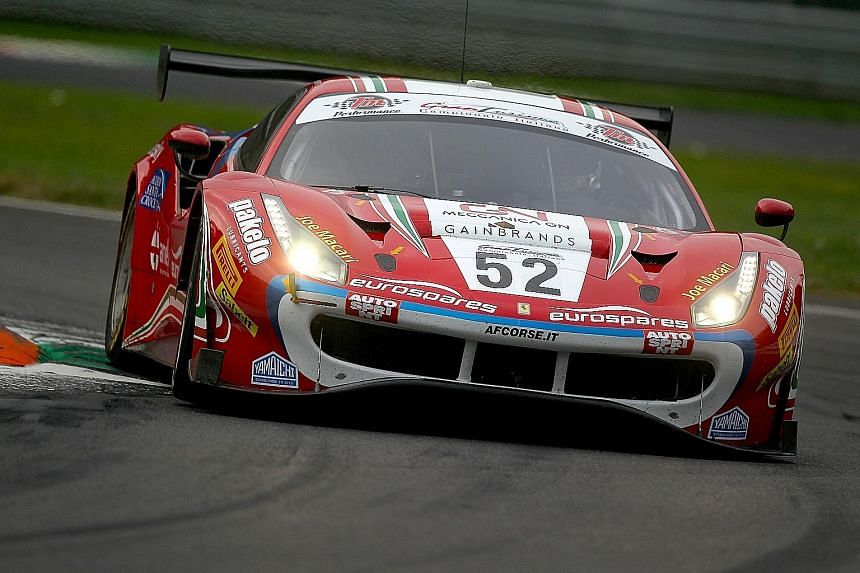 Sean Hudspeth racing for AF Corse during the Italian GT Championship in Monza, Italy, last year.