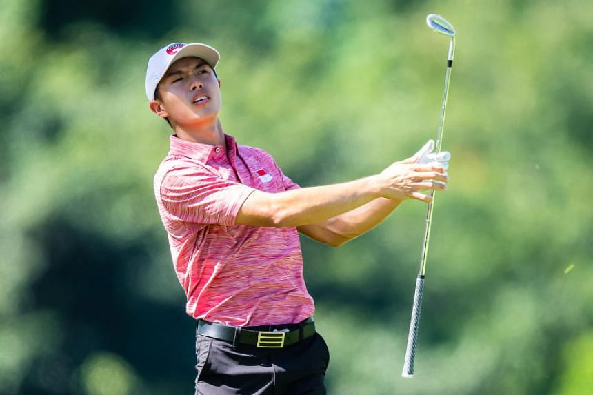 Singapore golfer James Leow in action during the 2019 SEA Games men's team finals in Philippines, on Dec 7, 2019.
