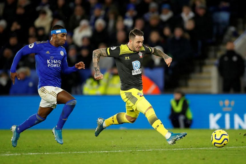 Southampton's Danny Ings scores his team's second goal against Leicester City on Jan 11, 2020.