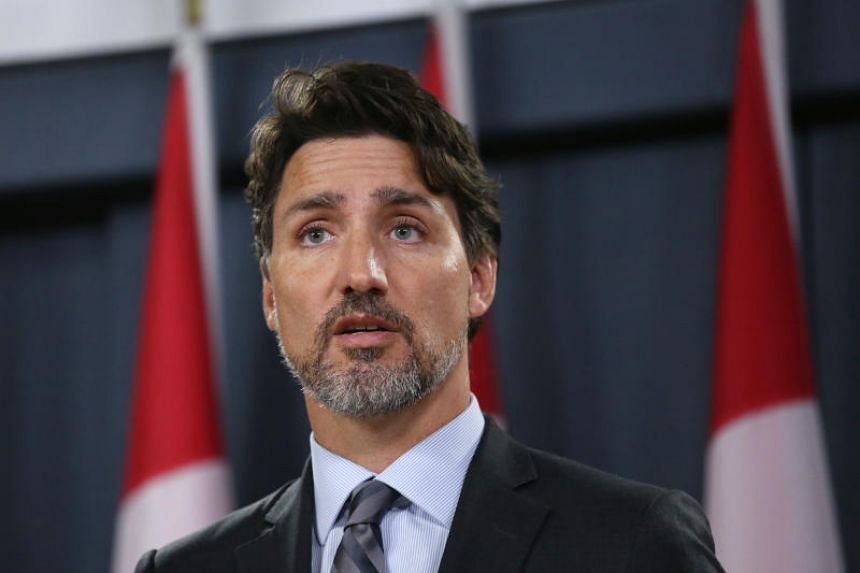 Canadian Prime Minister Justin Trudeau speaks at a press conference in Ottawa on Jan 11, 2020.