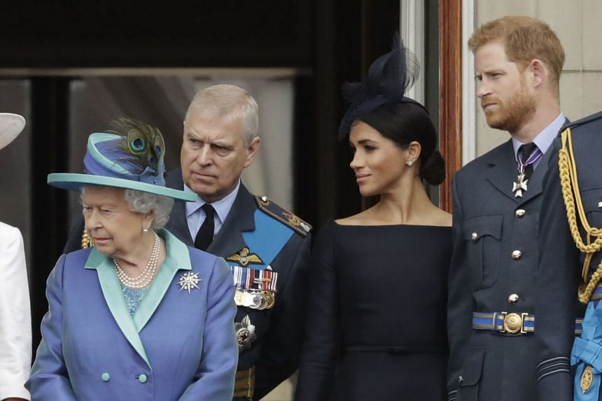 Britain's Queen Elizabeth (left) has called a family meeting to discuss the decision by Prince Harry and his wife, Meghan, to step back as senior royals.