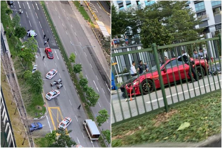 A Maserati was involved in an accident with an e-bike, resulting in the death of the 69-year-old female rider, in Cantonment Road on Jan 5, 2020.