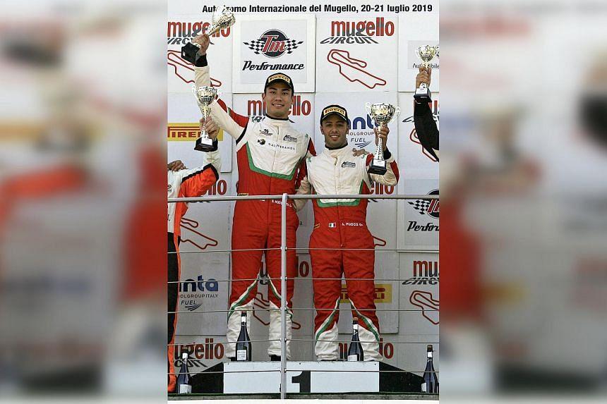 Hudspeth (left) and teammate Antonio Fuoco emerging winners of the Pro-Am class last season.