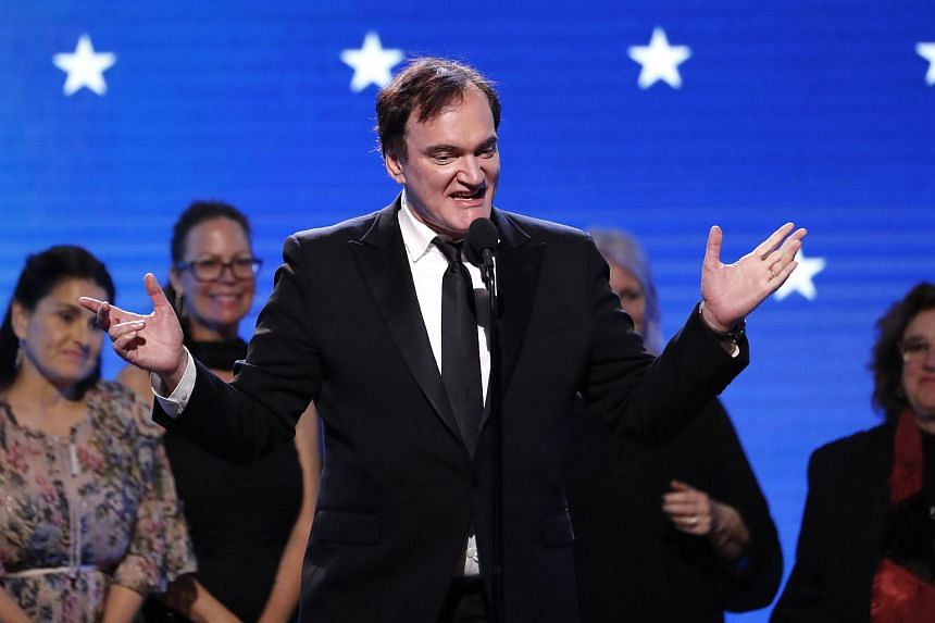 Director Quentin Tarantino accepting the Best Picture award for Once Upon A Time...In Hollywood at the 25th Critics Choice Awards.