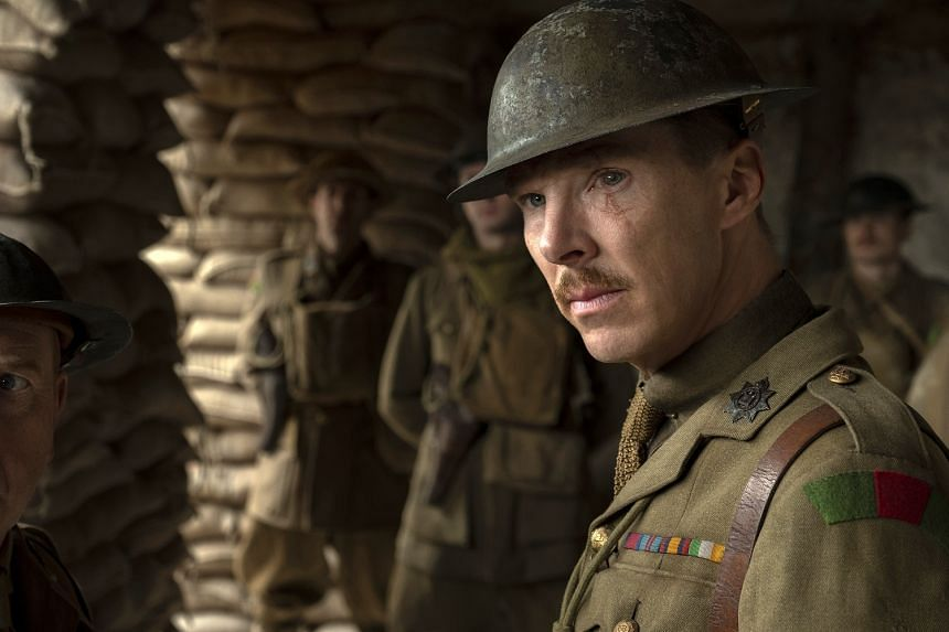 Benedict Cumberbatch as Colonel Mackenzie in a scene from 1917, directed by Sam Mendes.