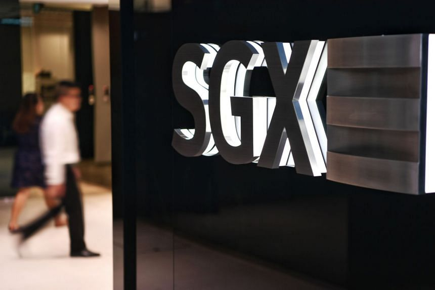 The Singapore Exchange logo seen in its building in Shenton Way.