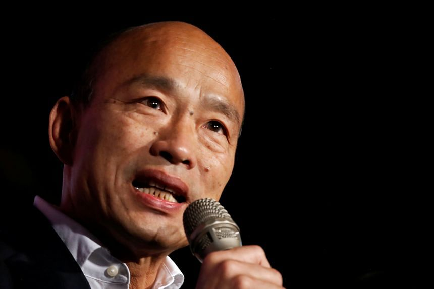 Kuomintang party's presidential candidate Han Kuo-yu admits defeat in presidential election in Taiwan on Jan 11, 2020.
