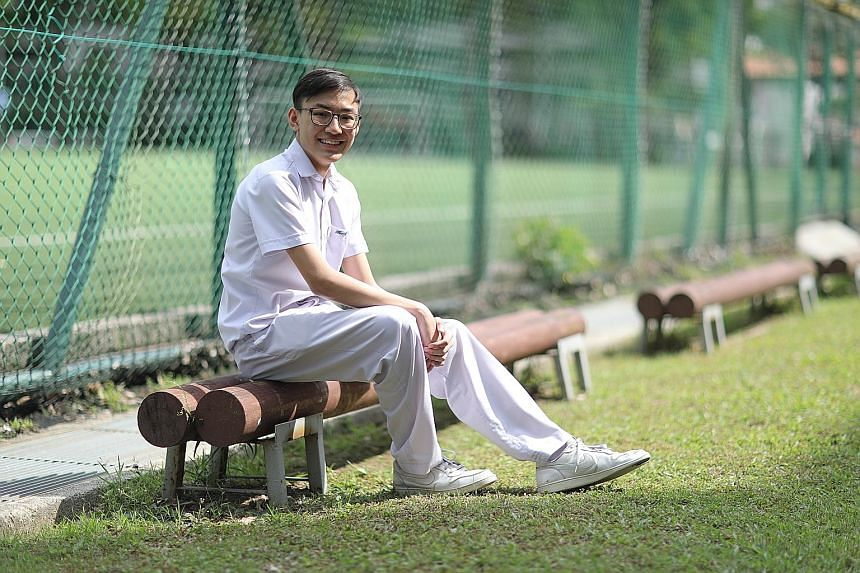 Lian Jie Qi of Hua Yi Secondary School was diagnosed with leukaemia in January 2018 and missed the whole Sec 3 year. He went straight into Sec 4 - and still managed to get six distinctions in his O-level exams.