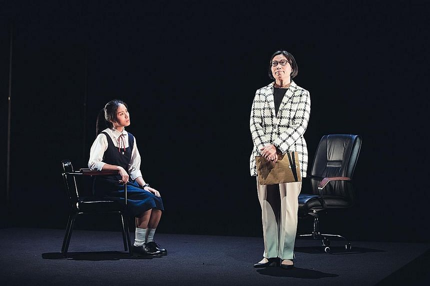 Cantonese play Principle (above), by the Hong Kong Repertory Theatre, explores the education system in Hong Kong, but its creators believe it will find an audience in Singapore.