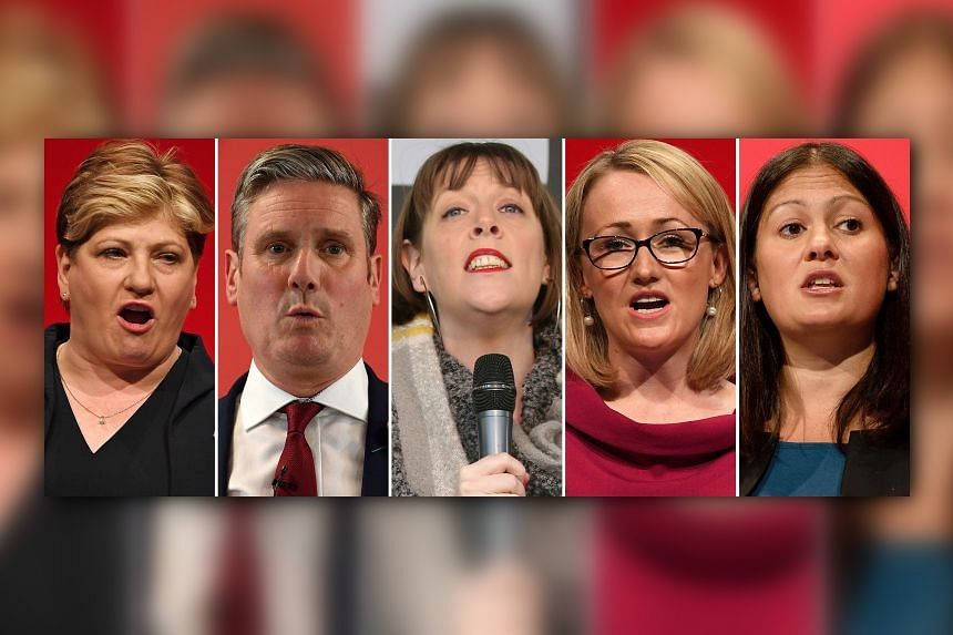 A combination of photos shows the five Labour leadership candidates that have made it through to the second round of the contest on Jan 13, 2020: (from left) Emily Thornberry, Keir Starmer, Jess Phillips, Rebecca Long-Bailey and Lisa Nandy.
