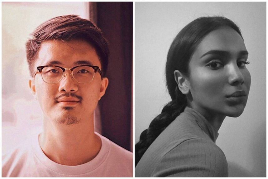 Local artist Jonathan Lim (left) apologised for his actions, following his racially-charged social media posts against co-artist Priyageetha Dia and her friend.