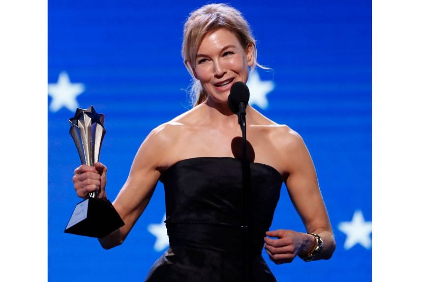 (Above) Renee Zellweger picked up a best actress award for Judy; director Ava DuVernay's When They See Us won best limited series; and Quentin Tarantino's Once Upon A Time... In Hollywood won best picture.